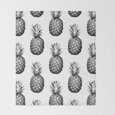 Black & White Pineapple Throw Blanket