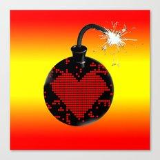 love bomb (hot) Canvas Print