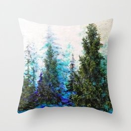 BLUE MOUNTAIN PINE FOREST  VISTA Throw Pillow