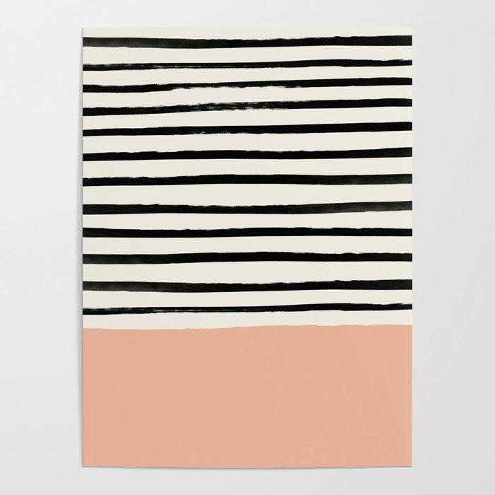 Peach x Stripes Poster