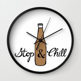 Stop & Chill - Beer Wall Clock