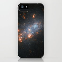 44. Hubble Peers at Galactic Cherry Blossoms iPhone Case