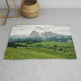 Mountain view in the Italian Dolomites Rug