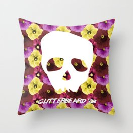 Glitterbeards Never Say Die  Throw Pillow