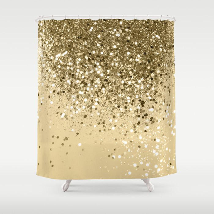 Cali Summer Vibes Lady Glitter 1 Shiny Decor Art Society6 Shower Curtain