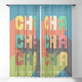 Cha cha cha Sheer Curtain