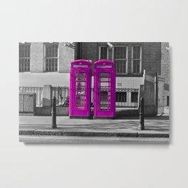 Purple Phone box Metal Print