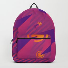 Colorful Pink And Purple Abstract Geometric Design Pattern Backpack