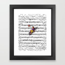 """""""Noise to Music"""" by Jackie Ferrentino for Nautilus Framed Art Print"""