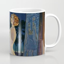 Melody of Ancient Egypt Art Deco romantic female figure by the River Nile painting by Henry Clive Coffee Mug