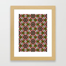 Persian Mosaic – Pink & Sage Palette Framed Art Print