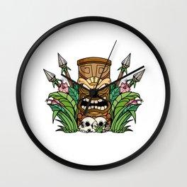 Awesome Tiki Bar Gift Print Hawaiian Island Vacation Product Wall Clock