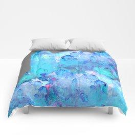 AURAL BLUE CRYSTALS ART Comforters