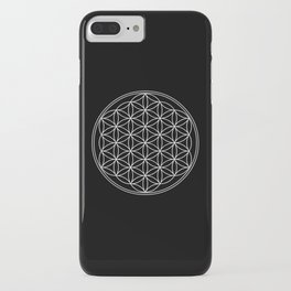 Flower of life on black iPhone Case