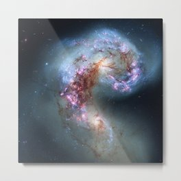 Interacting galaxies Metal Print