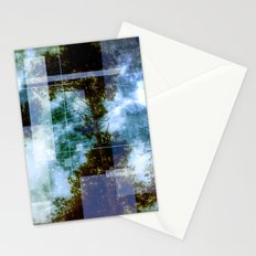 forest memories Abstract Blue Fire Stationery Cards
