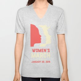 Women's March On Indiana January 20, 2019 Unisex V-Neck