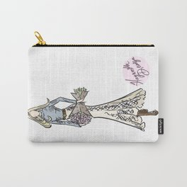 """Hayworth Design Fashion Illustration """"Fashionable Country Western Girl with Flowers"""" Carry-All Pouch"""