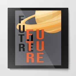 Science Fiction Space Ufo Alien Sci-Fi Funny Gift Metal Print