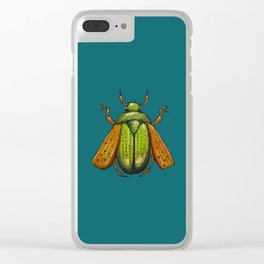 Beetle Wings Clear iPhone Case