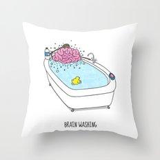 Brain Washing! Throw Pillow
