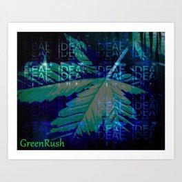the GreenRush Collection - BlueDream Art Print
