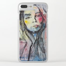 """Mila Sketch"" Clear iPhone Case"