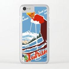 Vintage Autrans France Ski Travel Clear iPhone Case