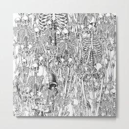 Skeleton Mess Metal Print
