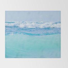 Kapukaulua Pure Blue Surf Throw Blanket