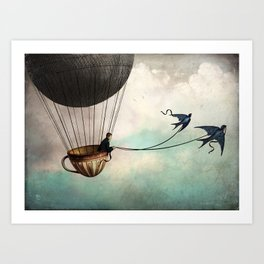 Around the world in a teacup Art Print