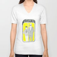 rushmore V-neck T-shirts featuring Rushmore by Vannia Palacio