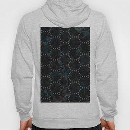 Abstract Blue Black Marble Hexagon Design Hoody