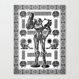 Metroid - Samus Aran Line Art Vector Character Poster Canvas Print