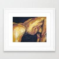 musa Framed Art Prints featuring Musa en amarillo by Ziuhtei Erdmann