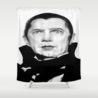 dracula Shower Curtains featuring Dracula by Leyla Buk