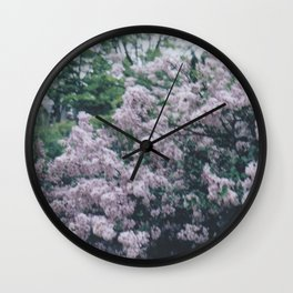 Korean Lilac Instant Film Soft Abstract Floral Feminine Wall Art Wall Clock