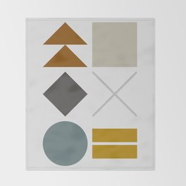 Mid West Geometric 03 Throw Blanket