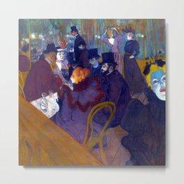 Henri de Toulouse Lautrec At the Nightclub Metal Print