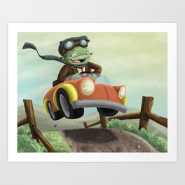 Mr. Toad's Wild Ride Art Print