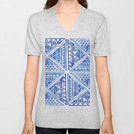 Geo tile art Unisex V-Neck