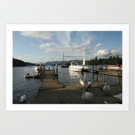 Lake Windermere Boats Art Print