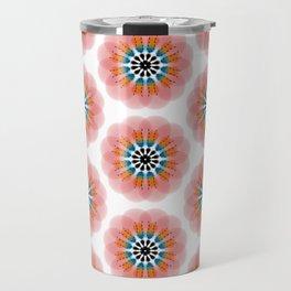Peachy Flowers Travel Mug