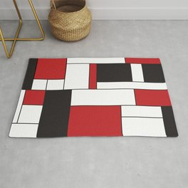 Geometric Abstract - Rectangulars Colored Rug