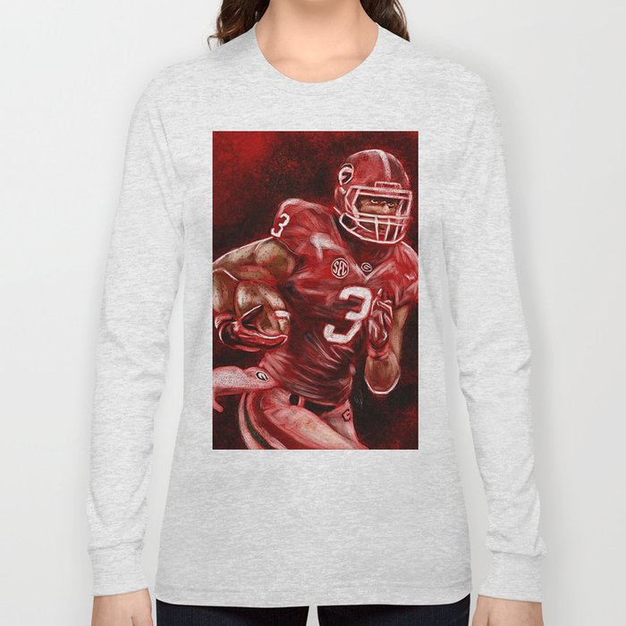 100% authentic b017c 0a984 Todd Gurley of UGA Bulldog Football Long Sleeve T-shirt by wesleysabney