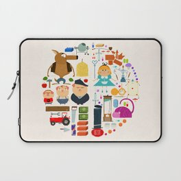 Alice in wonderland + Three Little Pigs aka ALIPIGS Laptop Sleeve