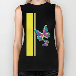 Nautical Butterfly - (Preppy Collection) Biker Tank