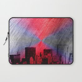 cityscape and colored sky -3- Laptop Sleeve