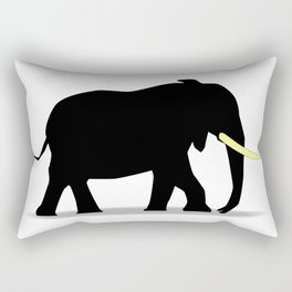 Cartoon Elephant Silhouette Rectangular Pillow