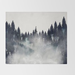 into the wilderness Throw Blanket